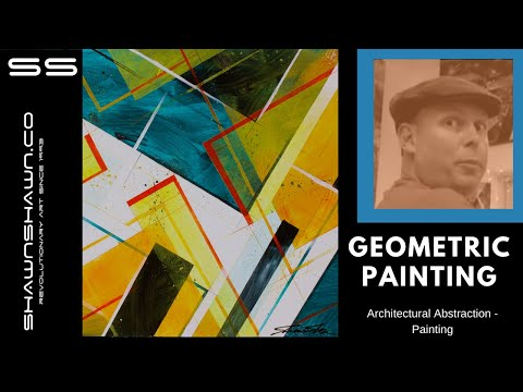 How To Paint Geometric Art In Acrylic Tutorial Youtube
