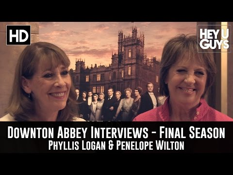 Phyllis Logan & Penelope Wilton Exclusive   Downton Abbey