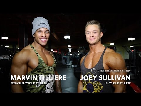 Marvin Tilliere and Joey Sullivan Train Upper Body and Quads at the 2015 Olympia Weekend