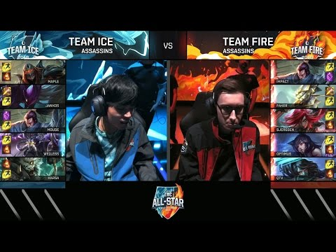 BJERGSEN and FAKER - Assassins Mode All Star 2016 - Team Ice vs Team Fire