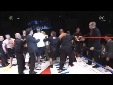 Fedor, Wanderlei & Sapp caught in Mirko Cro Cop's brawl with Fujita in Japan