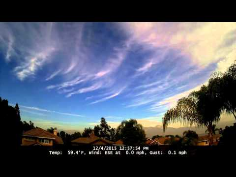 Chino Hills Time-Lapse 12/4/15
