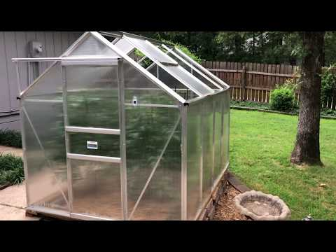 6 ft  x 8 ft  Greenhouse
