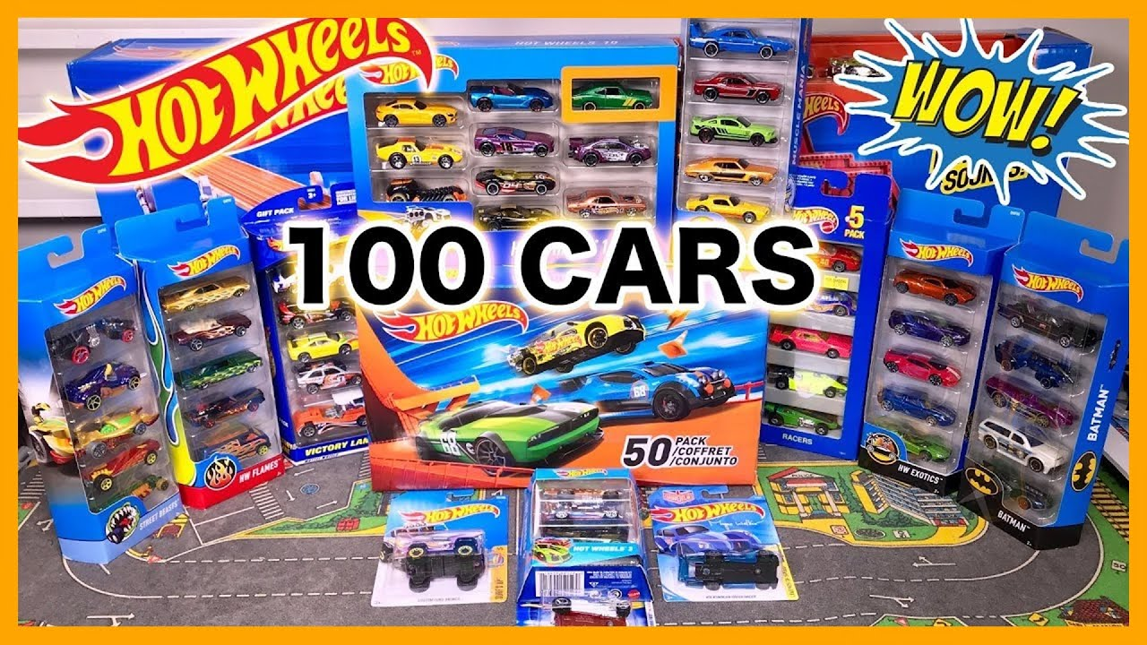 Opening 100 Hot Wheels Card Surprise Toy Cars Sports Cars Trucks