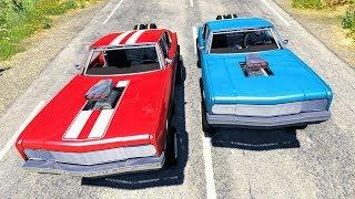 Street Racing Crashes #3 - BeamNG Drive
