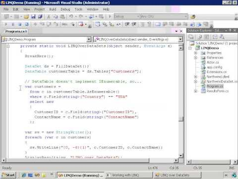 Module 07\16. LINQ to DataSets - XML\02  LINQ to DataSets   XML to C#