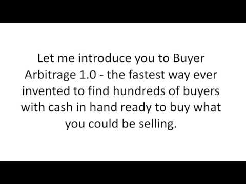 Buyer Arbitrage 1.0-Make Money Online With This Software That Finds The Right Buyers!