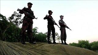Rohingya families flee persecution in Myanmar