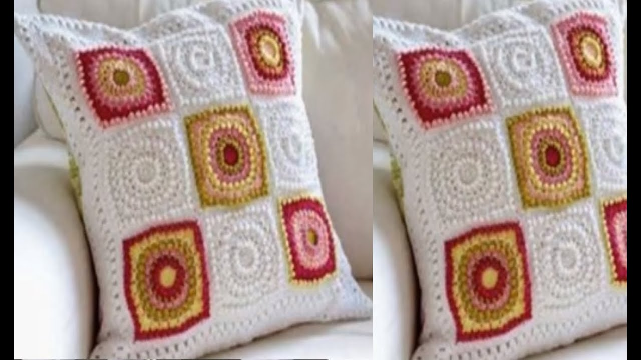 Hermosos modelos de cojines tejidos a crochet youtube - Cojin de crochet ...