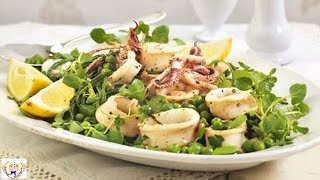 Squid Samphire And Pea Salad