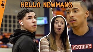 How Julian Newman Prepared To Play LAMELO BALL! Jaden Newman Has A CRUSH On Melo!?