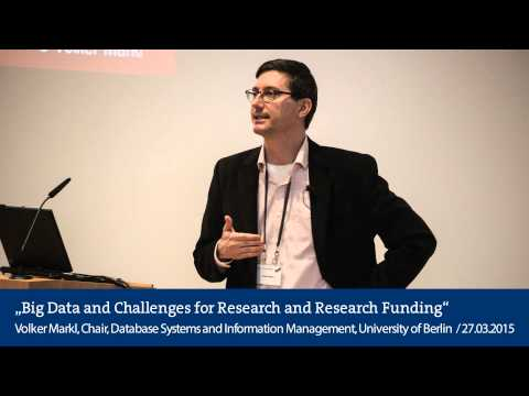 Big Data and Challenges for Research and Research Funding