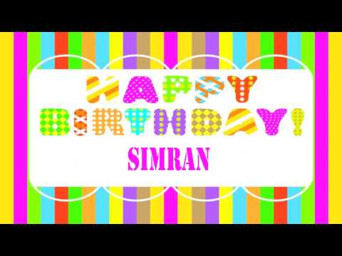 Simran Wishes  - Happy Birthday
