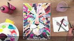 Malen mit Acryl: ArtNight Löwen Tutorial