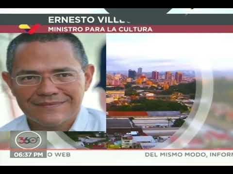 Recomendaciones del ministro de Cultura de Venezuela, Ernesto Villegas, ante el coronavirus