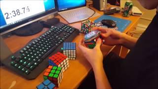 2x2 - 7x7 Rubik's Cube World Record - 5:58.36