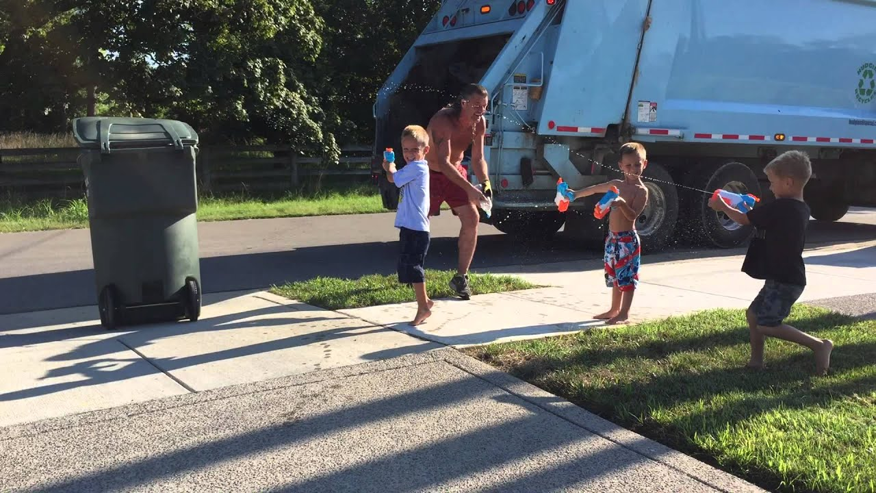 Image result for little girl love garbage man