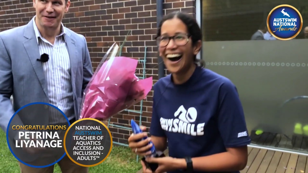 AUSTSWIM 2018 National Swim Teacher of Adults Award surprise ceremony
