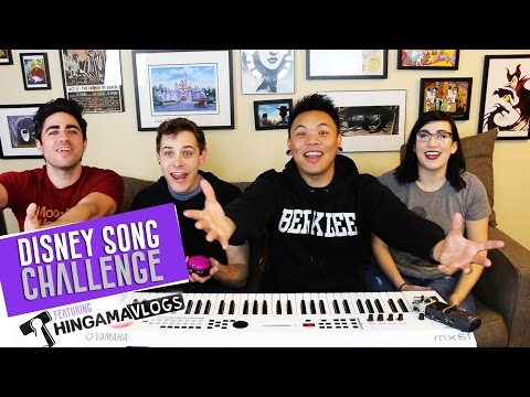 EPIC Disney Song Challenge with Thingamavlogs!!! | AJ Rafael