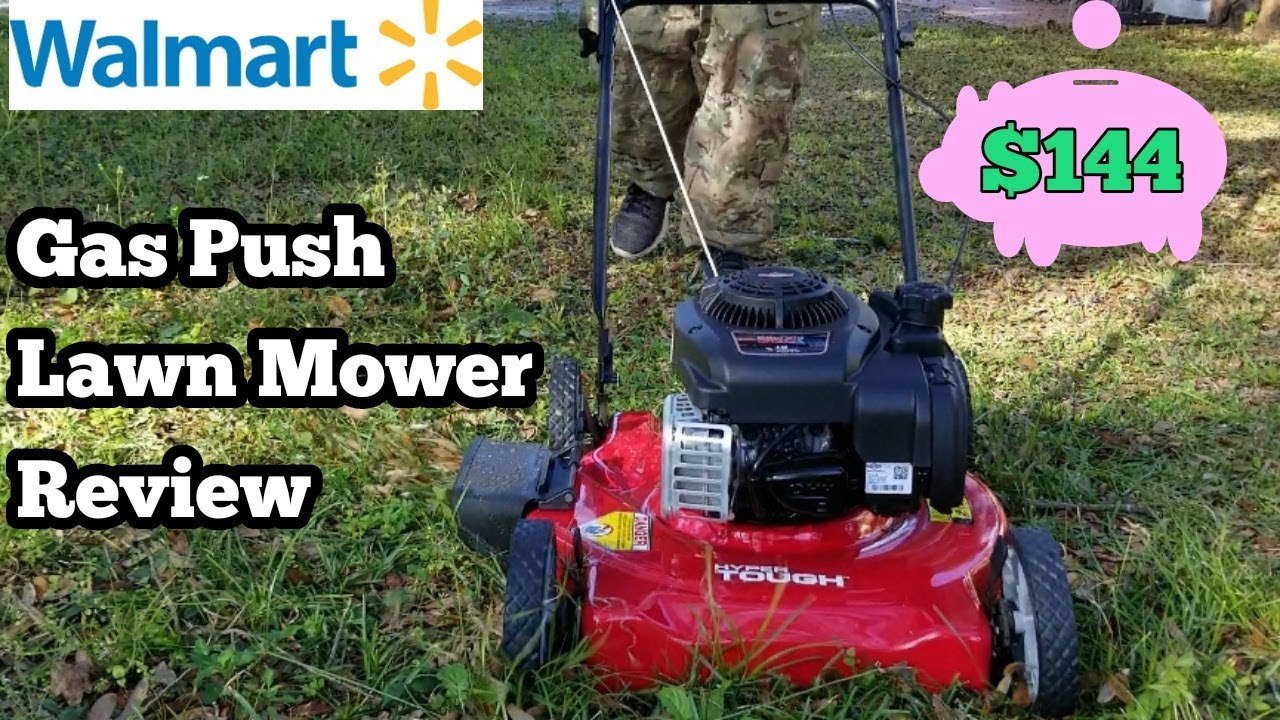 New Gas Push Lawn Mower For Only 144 Dollars Unboxing