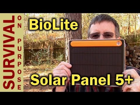 BioLite Solar Panel 5+ Off Grid Power - Survival Gear