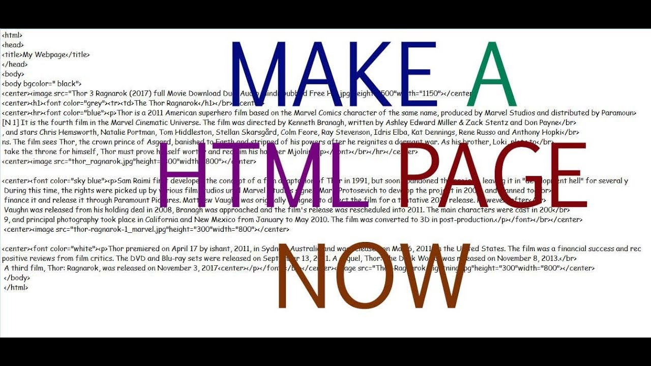 How To Make A Html Page - Tutorial 1