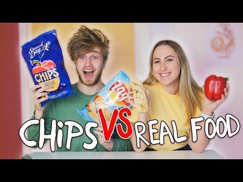 CHIPS vs. REAL FOOD CHALLENGE! 😱