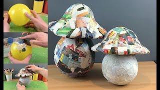 Easy How to Make Basic Giant Paper Mache Mushrooms