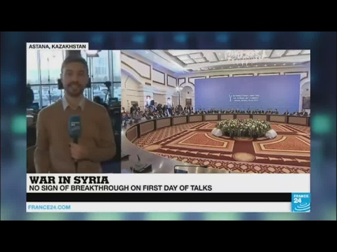 Syria peace talks: First day of Astana ends 'without breakthrough'