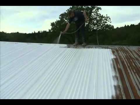 Бързо и лесно изолиране на метален покрив с хидроизолация с течна гума Isoflex-Universal