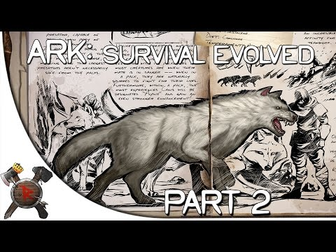 "Ark: Survival Evolved Gameplay - Part 2: ""TRIPLE Direwolf Tame!"" (Season 3)"