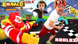 RONALD MineCraft Donalds! Roblox Portals Race Escape! (FGTeeV x RB BATTLES Ch4.)