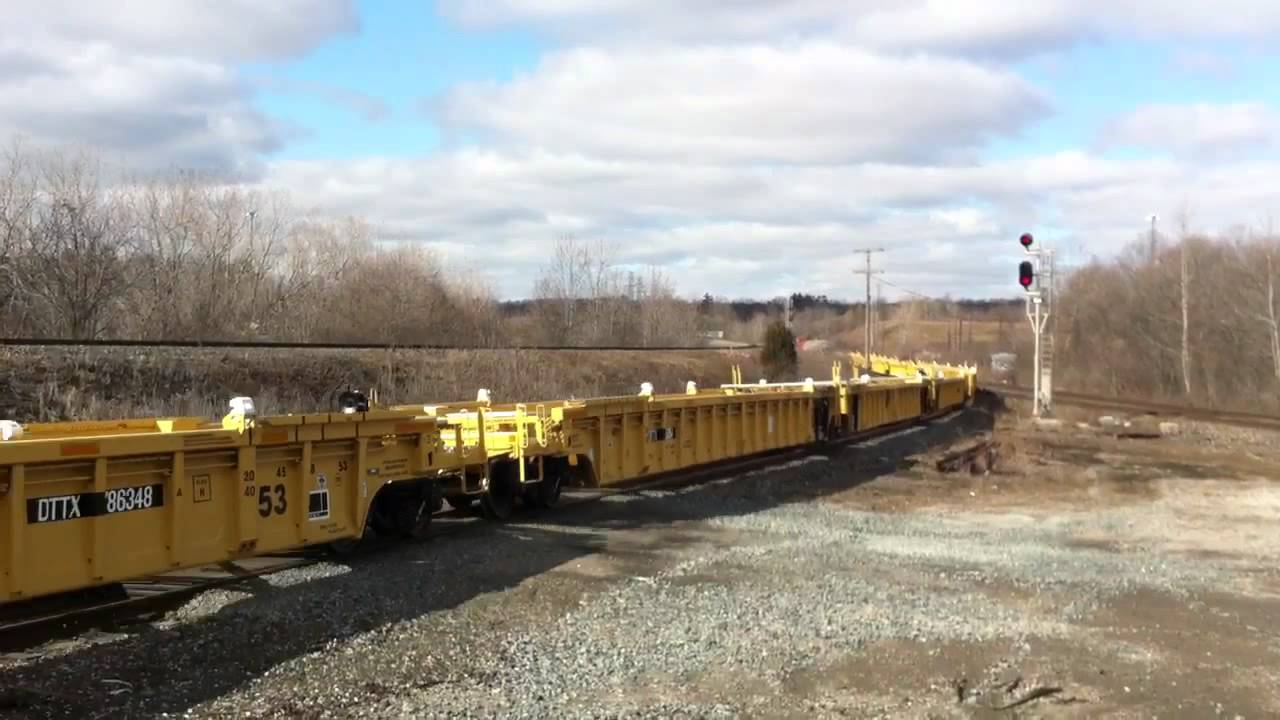 Cn 331 With New Cars From National Steel Car Heads To Sarnia