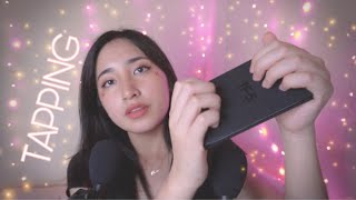 ASMR Tapping on Tingly Items ~ soft whispers💐