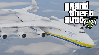 GTA V Antonov AN-225 Mriya (Biggest plane in the world) [MOD]