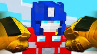 REALISTIC TRANSFORMERS - Bumblebee VS Optimus Prime! (Realistic Minecraft)