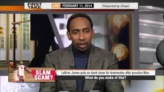 Espn First Take - LeBron Taunt dunk contest