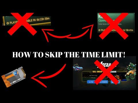 HOW TO GET TRADABLE ROCKET LEAGUE KEYS WITHOUT WAITING THE TIME LIMIT OR USING AOEAH! (NO COOLDOWN)
