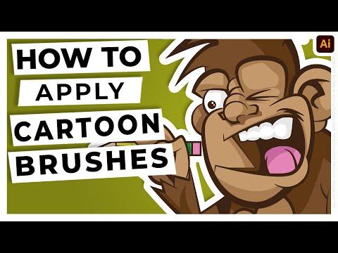 Adobe Illustrator Cartoon Inking Tutorial using Pen Tool