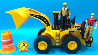 CAT Motorized Job Site Machine Wheel Loader The Mighty Machines Construction Toys