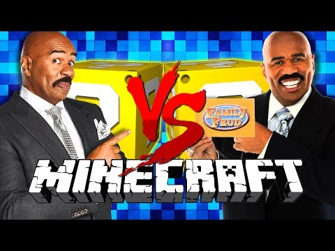 2v2! *FAMILY FEUD* LUCKY BLOCKS! in Minecraft!