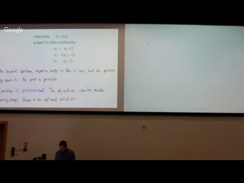 DM Lecture 11: Infeasible LPs, unbounded LPs, & other special cases