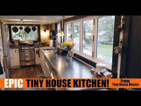 Epic Tiny House California Kitchen  For Cooking AND Entertaining