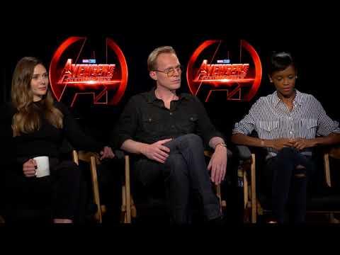 Avengers Infinity War  with Paul Bettany Elizabeth Olsen Letitia Wright