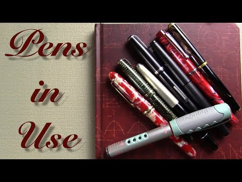 Pens in Use - March 16, 2018
