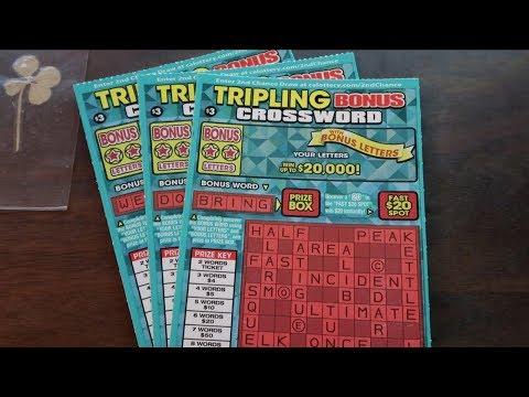SCRATCHER WIN STRATEGY WORKING!!! Tripling Bonus Crossword $3 California Lottery Scratcher