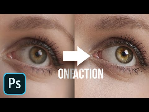 FREE Complete Eye Retouch Photoshop Action!