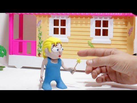 Magic Elsa 💕 Superhero Play Doh Stop motion cartoons