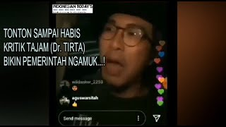 Dokter Tirta Kritik Pemerintah Bikin Jokowi Malu