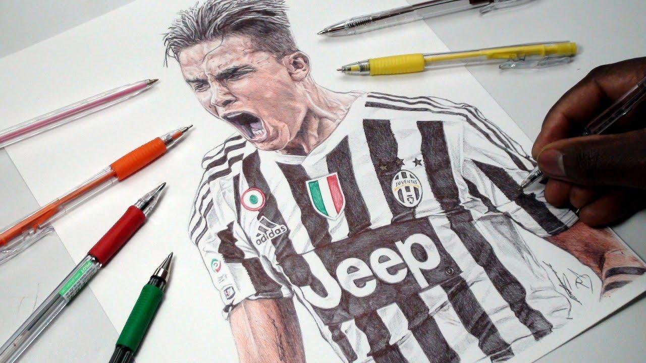 Dybala pen drawing juventus demoose art youtube